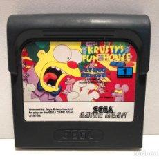 Videojuegos y Consolas: KRUSTY'S FUN HOUSE SEGA GAME GEAR. Lote 147389826