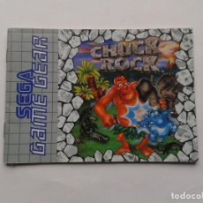 Videojuegos y Consolas: SEGA GAME GEAR CHUCK ROCK ORIGINAL INSTRUCTION MANUAL PAL R8424MA2. Lote 150531238