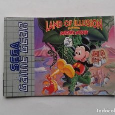 Videojuegos y Consolas: SEGA GAME GEAR LAND ILLUSION MICKEY MOUSE INSTRUCTION MANUAL PAL R8425MA2. Lote 150531286