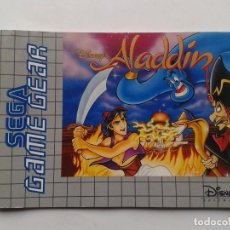 Videojuegos y Consolas: SEGA GAME GEAR DISNEY ALADDIN ORIGINAL INSTRUCTION MANUAL PAL R8427MA2. Lote 150531398