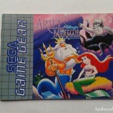Videojuegos y Consolas: SEGA GAME GEAR ARIEL LITTLE MERMAID ORIGINAL INSTRUCTION MANUAL PAL R8430MA2. Lote 150531530