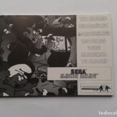 Videojuegos y Consolas: SEGA GAME GEAR SMURFS PITUFOS SCHTROUMPFS ORIGINAL INSTRUCTION MANUAL PAL R8432MA2. Lote 150531622