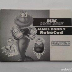 Videojuegos y Consolas: SEGA GAME GEAR JAMES POND 2 ROBOCOD ORIGINAL INSTRUCTION MANUAL PAL R8433MA2. Lote 150531690