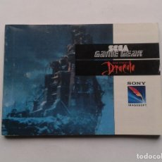 Videojuegos y Consolas: SEGA GAME GEAR BRAM STOKERS DRACULA ORIGINAL INSTRUCTION MANUAL PAL R8435MA2. Lote 211654166