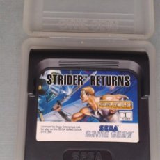 Videojuegos y Consolas: SEGA GAME GEAR STRIDER RETURNS INCLUYE FUNDA TODO ORIGINAL PAL R8668. Lote 154117686