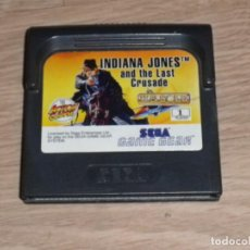 Videojuegos y Consolas: SEGA GAMEGEAR INDIANA JONES AND THE LAST CRUSADE. Lote 155157390