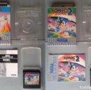 Videojuegos y Consolas: LOTE SEGA GAME GEAR SONIC HEDGEHOG 1 Y 2 CON CAJA Y MANUAL COMPLETOS CIB PAL R8976. Lote 160340778