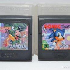 Videojuegos y Consolas: LOTE 2 JUEGOS GAME GEAR, SONIC Y LAND OF ILUSION. Lote 166451930