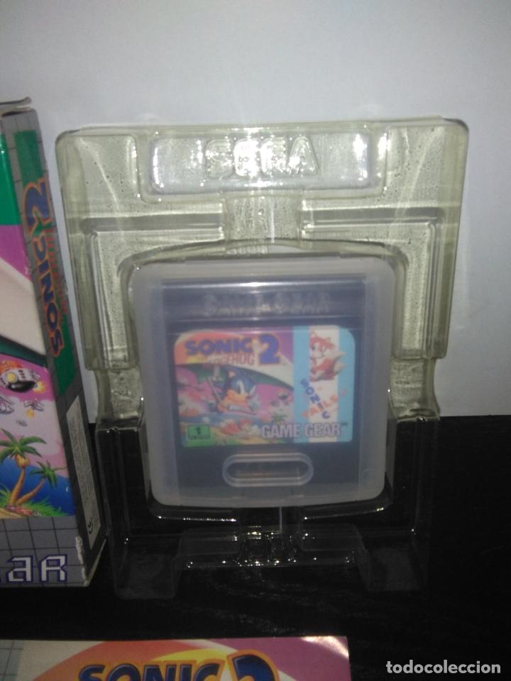 Videojuegos y Consolas: juego sega game gear SONIC 2 THE HEDGEHOG Completo gamegear - Foto 2 - 168833700