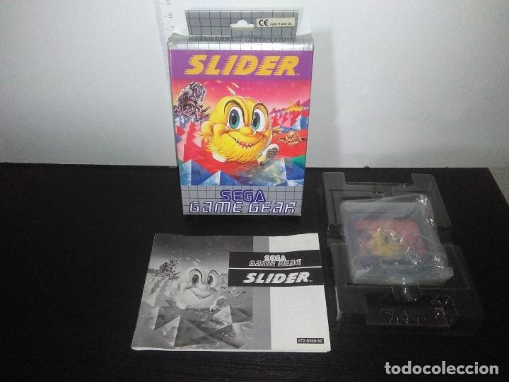 JUEGO SEGA GAME GEAR SLIDER COMPLETO GAMEGEAR (Juguetes - Videojuegos y Consolas - Sega - GameGear)