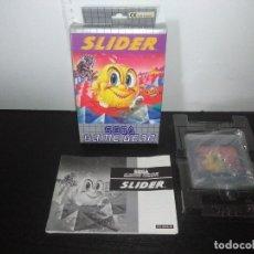 Videojuegos y Consolas: JUEGO SEGA GAME GEAR SLIDER COMPLETO GAMEGEAR . Lote 168843400