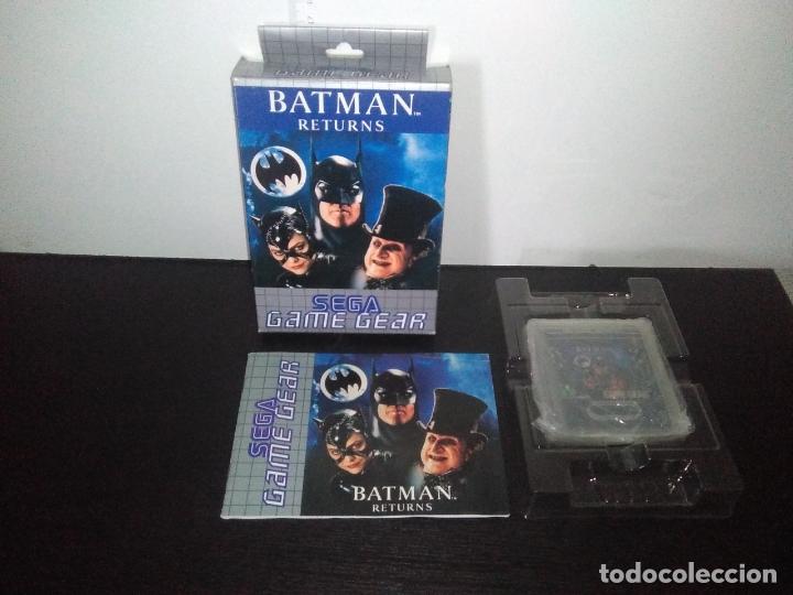 JUEGO SEGA GAME GEAR BATMAN RETURNS BAT MAN COMPLETO GAMEGEAR (Juguetes - Videojuegos y Consolas - Sega - GameGear)