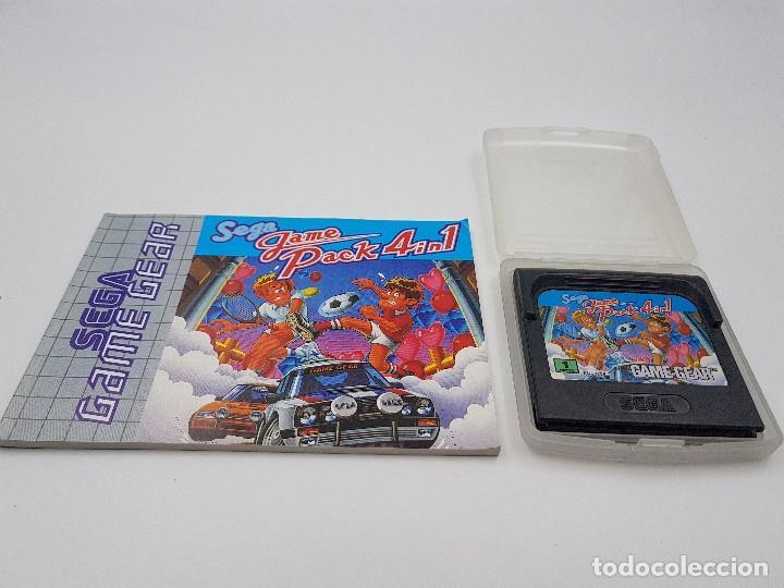 JUEGO GAME PACK 4 IN 1+ FUNDA+ INSTRUCCIONES SEGA GAME GEAR.COMBINO ENVÍOS (Juguetes - Videojuegos y Consolas - Sega - GameGear)