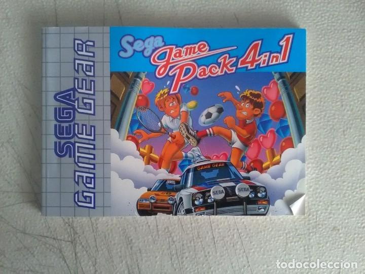 MANUAL SEGA GAME GEAR SEGA GAME PACK 4 IN 1 (Juguetes - Videojuegos y Consolas - Sega - GameGear)