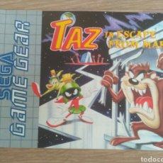 Videojuegos y Consolas: SEGA GAME GEAR INSTRUCCIONES DE TAZ IN ESCAPE FROM MARS. Lote 176670389
