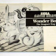 Videojuegos y Consolas: SEGA GAMEGEAR - MANUAL DE INSTRUCCIONES WONDER BOY - GAME GEAR. Lote 178808035