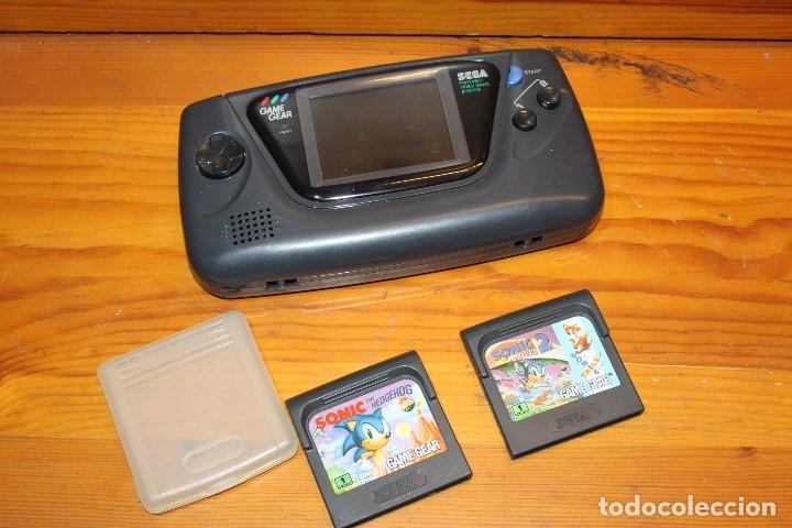 CONSOLA SEGA GAMEGEAR + 2 JUEGOS FUNCIONA (Juguetes - Videojuegos y Consolas - Sega - GameGear)
