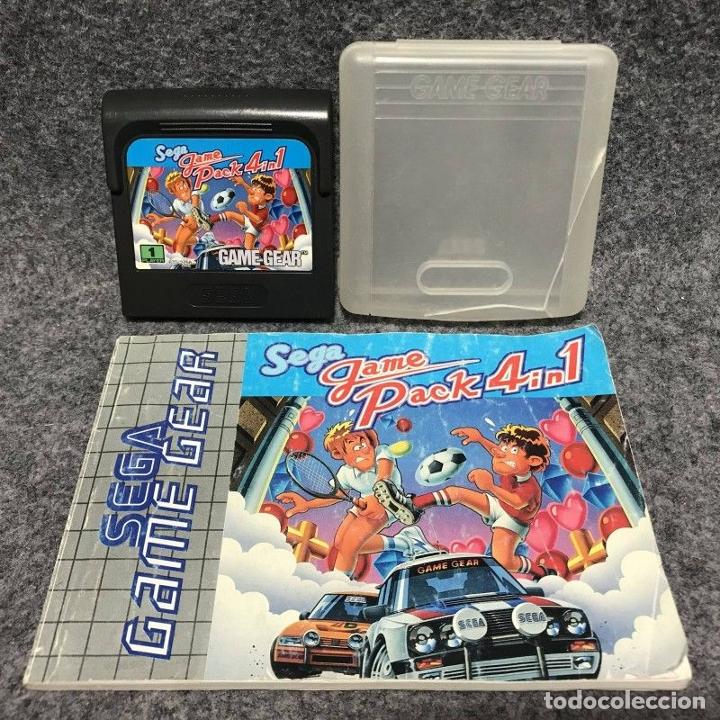 SEGA GAME PACK 4 IN 1+INSTRUCCIONES SEGA GAME GEAR (Juguetes - Videojuegos y Consolas - Sega - GameGear)