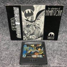 Videojuegos y Consolas: THE ADVENTURES OF BATMAN AND ROBIN+INSTRUCCIONES SEGA GAME GEAR. Lote 179124047