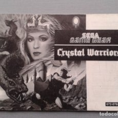 Videojuegos y Consolas: SEGA GAME GEAR CRYSTAL WARRIORS ORIGINAL INSTRUCTION MANUAL PAL R9531MA2. Lote 181692832