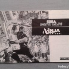 Videojuegos y Consolas: SEGA GAME GEAR NINJA GAIDEN ORIGINAL INSTRUCTION MANUAL PAL R9532MA2. Lote 181692901