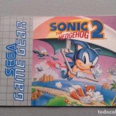Videojuegos y Consolas: SEGA GAME GEAR SONIC THE HEDGEHOG 2 ORIGINAL INSTRUCTION MANUAL PAL R9533MA2. Lote 181692966