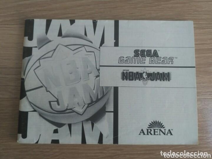 SEGA GAME GEAR INSTRUCCIONES DE NBA JAM (Juguetes - Videojuegos y Consolas - Sega - GameGear)