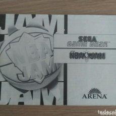 Videojuegos y Consolas: SEGA GAME GEAR INSTRUCCIONES DE NBA JAM. Lote 191709902