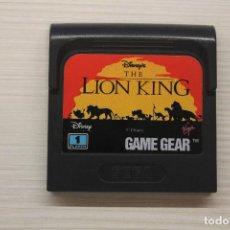 Videojuegos y Consolas: GAME GEAR THE LION KING, CON FUNDA ORIGINAL, FUNCIONA. Lote 221252597