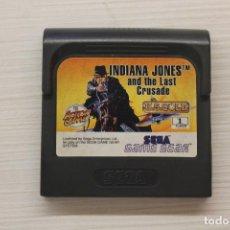 Videojuegos y Consolas: GAME GEAR INDIANA JONES AND THE LAST CRUSADE CON FUNDA ORIGINAL, FUNCIONA. Lote 192140440