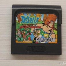 Videojuegos y Consolas: GAME GEAR ASTERIX AND THE SECRET MISSION CON FUNDA ORIGINAL, FUNCIONA. Lote 192140982