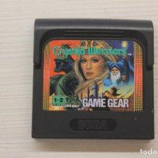 Videojuegos y Consolas: GAME GEAR CRYSTAL WARRIORS CON FUNDA ORIGINAL, FUNCIONA. Lote 192141126