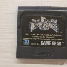 Videojuegos y Consolas: GAME GEAR POWER RANGERS THE MOVIE, CON FUNDA ORIGINAL, FUNCIONA. Lote 192141686