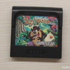Videojuegos y Consolas: GAME GEAR TAZ-MANIA TAZMANIA, CON FUNDA NO ORIGINAL, FUNCIONA. Lote 192142907