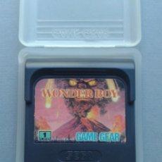 Videojuegos y Consolas: JUEGO SEGA GAME GEAR WONDER BOY CARTUCHO + FUNDA ORIGINAL PAL R9918. Lote 192956935