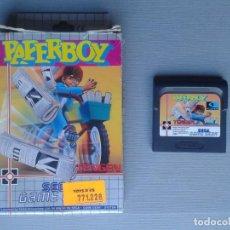 Videojuegos y Consolas: JUEGO SEGA GAME GEAR PAPERBOY INCLUYE CAJA BOXED ORIGINAL PAL R9928. Lote 192957168