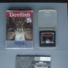 Videojuegos y Consolas: JUEGO SEGA GAME GEAR DEVILISH COMPLETO CAJA Y MANUAL BOXED CIB ORIGINAL PAL R9929. Lote 192957211