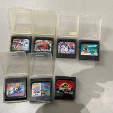 Videojuegos y Consolas: LOTE DE 7 JUEGOS SEGA GAME GEAR - VER LAS IMÁGENES. Lote 193938123