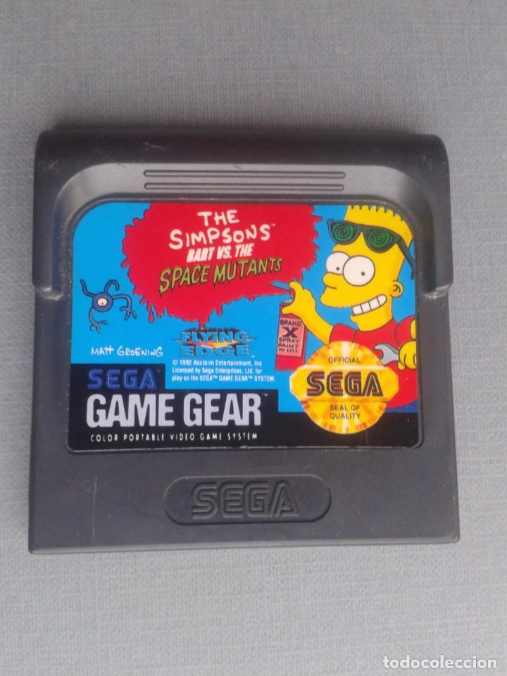 JUEGO SEGA GAME GEAR SIMPSONS BART VS SPACE MUTANTS FLYING EDGE SOLO CARTUCHO R10014 (Juguetes - Videojuegos y Consolas - Sega - GameGear)