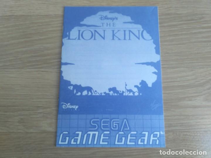 SEGA GAMEGEAR INSTRUCCIONES DEL REY LEON (Juguetes - Videojuegos y Consolas - Sega - GameGear)