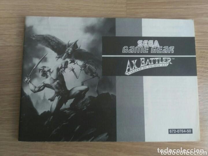 SEGA GAME GEAR INSTRUCCIONES DE AX BATTLE (Juguetes - Videojuegos y Consolas - Sega - GameGear)