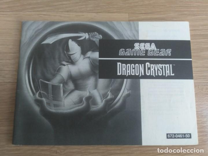 SEGA GAME GEAR INSTRUCCIONES DE DRAGON CRYSTAL (Juguetes - Videojuegos y Consolas - Sega - GameGear)