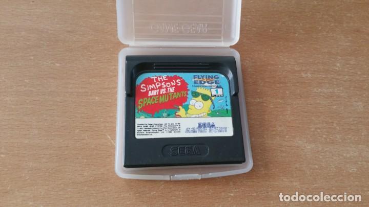 THE SIMPSONS BART SPACE MUTANTS SEGA GAME GEAR (Juguetes - Videojuegos y Consolas - Sega - GameGear)