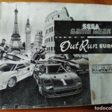 Videojuegos y Consolas: OUT RUN EUROPA - MANUAL SEGA GAME GEAR. Lote 195976331