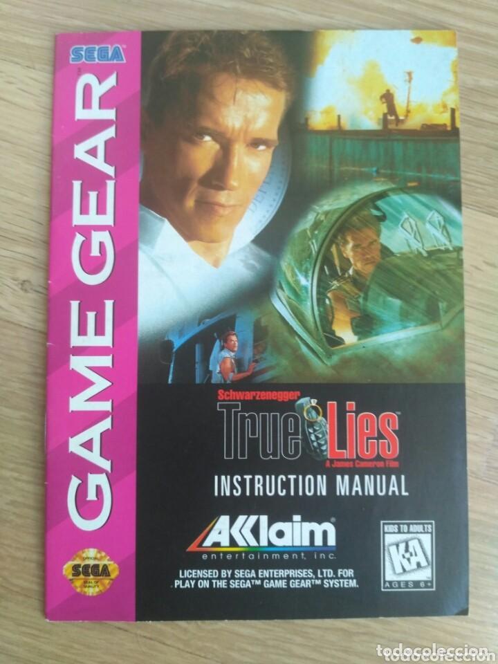 SEGA GAME GEAR INSTRUCCIONES DE TRUE LIES (Juguetes - Videojuegos y Consolas - Sega - GameGear)