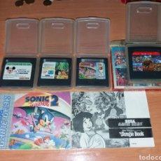 Videojuegos y Consolas: LOTE 4 JUEGOS GAME GEAR SEGA. Lote 198484576