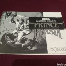Videojuegos y Consolas: MANUAL PRINCE OF PERSIA, GAME GEAR. Lote 198689237