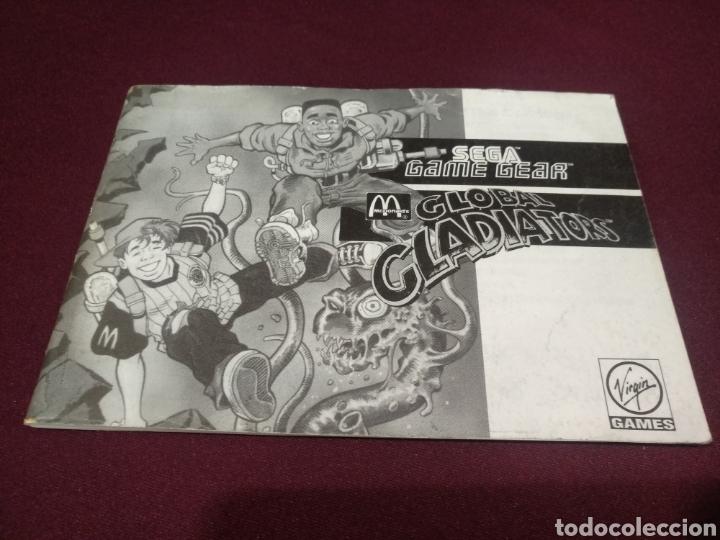 MANUAL GLOBAL GLADIATOR, GAME GEAR (Juguetes - Videojuegos y Consolas - Sega - GameGear)