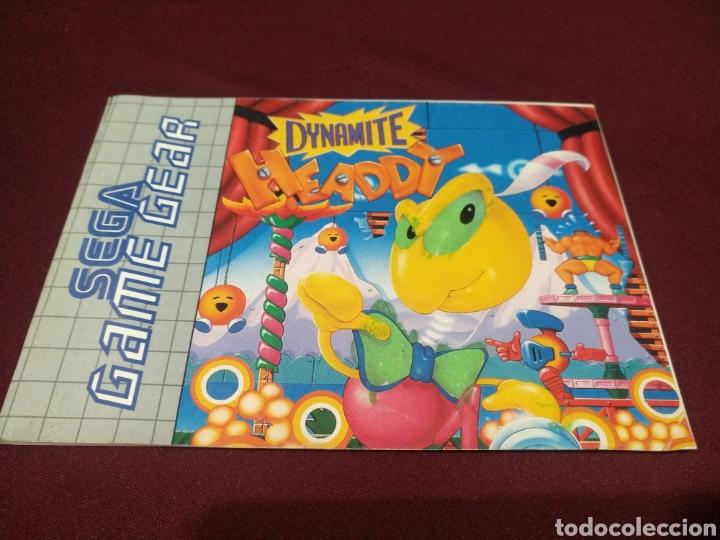 MANUAL DYNAMITE HEADDY, GAME GEAR (Juguetes - Videojuegos y Consolas - Sega - GameGear)