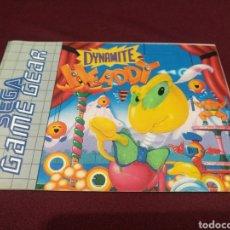 Videojuegos y Consolas: MANUAL DYNAMITE HEADDY, GAME GEAR. Lote 198689956